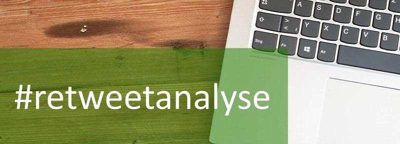 Laptop-Tastatur mit dem Hashtag Retweetanalyse