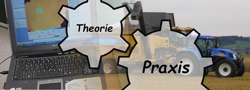 Bei der Ausbildung zum Landwirt greifen Theorie und Praxis in einander. Hier dargestellt als Zahnräder.