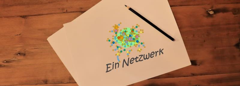 Ein gezeichnetes soziales Netzwerk zur Illustration der Definition von Networking.