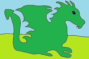 Ein grüner Drache
